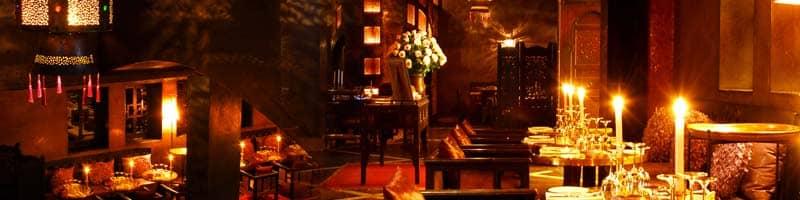 intérieur du restaurant le Comptoir de Marrakech