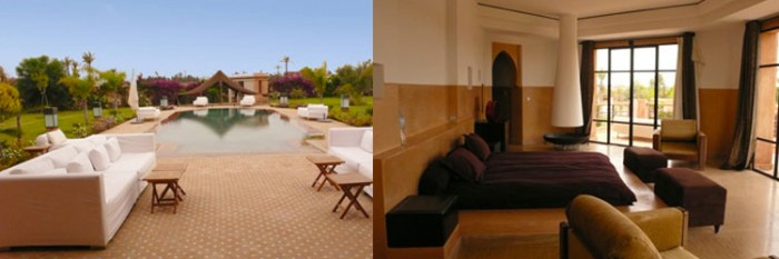 Locations villas courtes durées à Marrakech