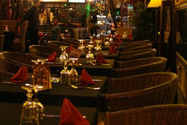 restaurant marrakech zebra african chic