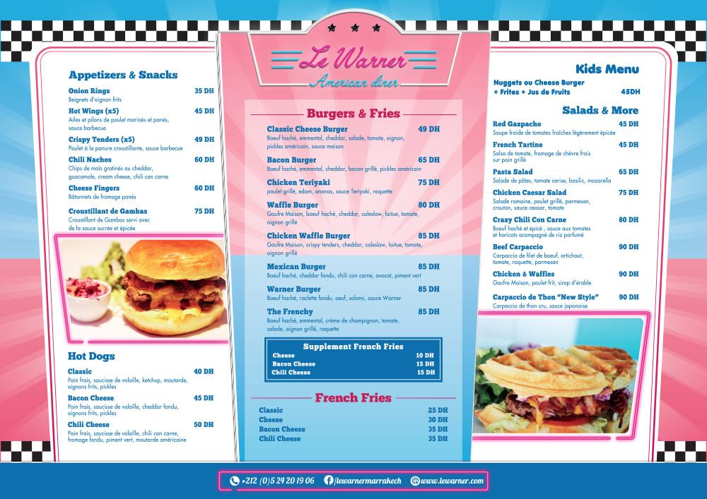 Restaurant Le Warner - La carte