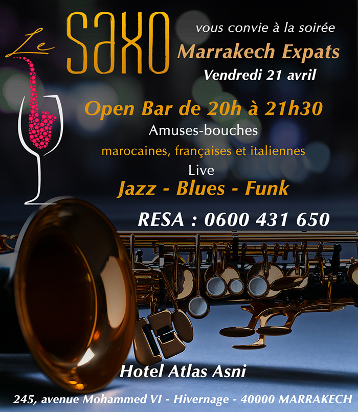 Saxo Soirée Expats Marrakech