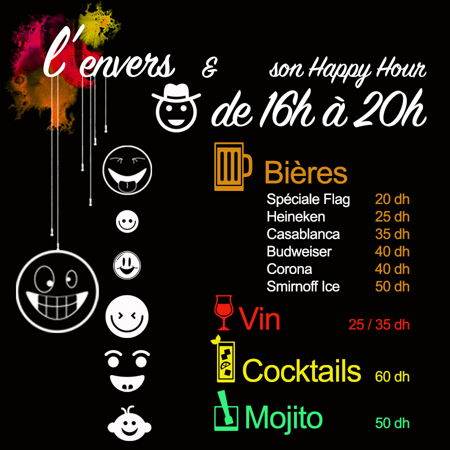 Envers marrakech Happy Hour